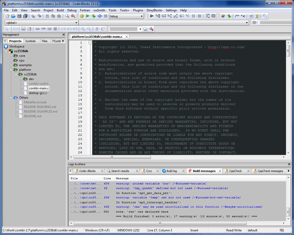 Contiki_2_7_cc2538dk_demo_code_blocks