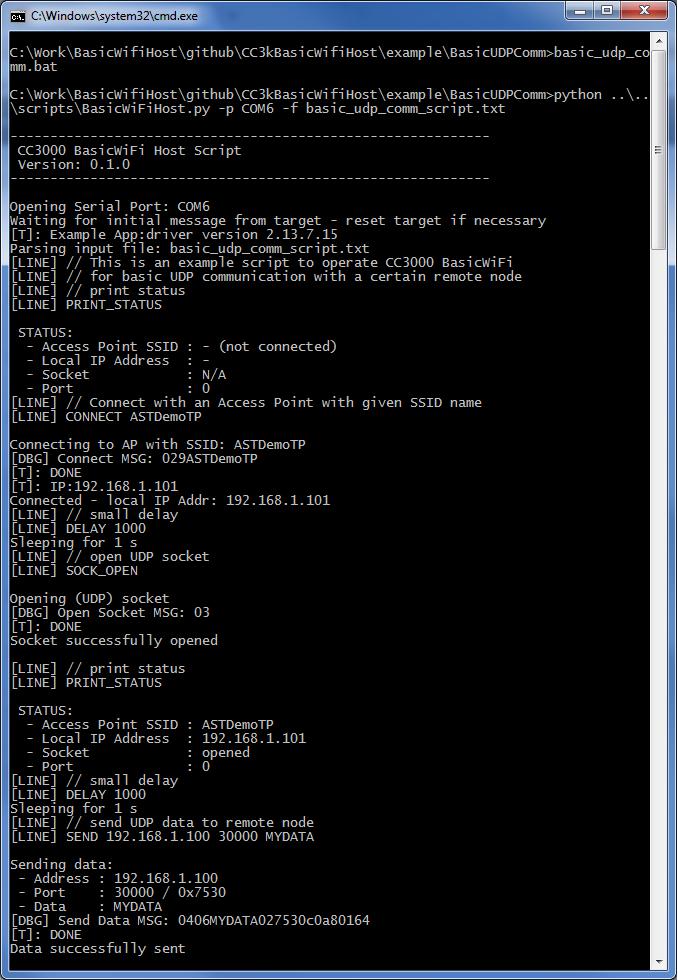 CC3000 Basic WiFi Host | Embedded Funk